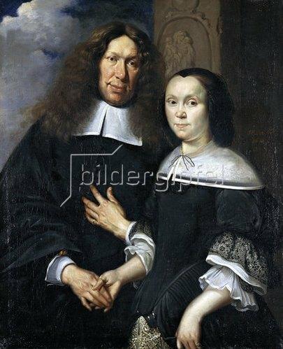 Johann Heinrich Roos: Bildnis eines unbekannten Ehepaares. 1668