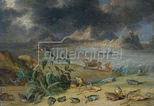 Jan van Kessel: Aus dem Zyklus Die vier Erdteile, Asien, Detail: Aden