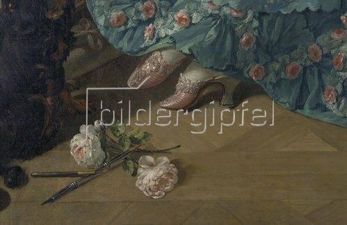 François Boucher: Marquise de Pompadour, Detail: Schuhe