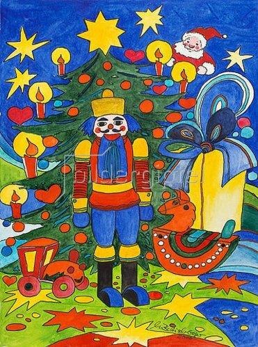 Annette Bartusch-Goger: Weihnachtsbaum und Nussknacker  2002