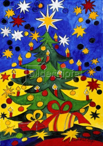 Annette Bartusch-Goger: Weihnachtsbaum mit Kerzen   2001