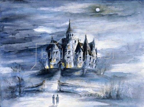 Annette Bartusch-Goger: Einsames Schloss bei Vollmond    2002
