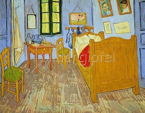 Vincent van Gogh: Van Goghs Schlafzimmer in Arles. 1889