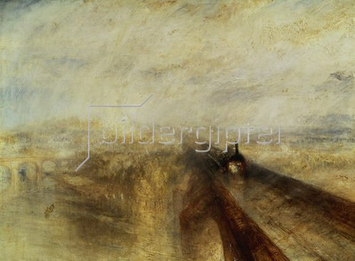 Joseph Mallord William Turner: Regen, Dampf und Geschwindigkeit (The great Western Railway). 1844