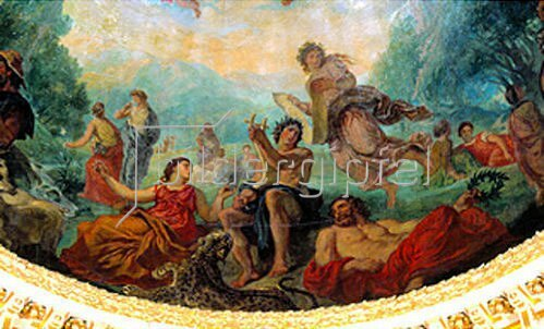 Eugene Delacroix: Elysium oder Dante und die Geister der großen Männer, Detail. 1841-1846