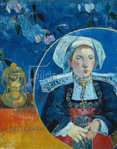 Paul Gauguin: La belle Angele .  (Madame Angele Satre, Gastwirtin in Pont-Aven). 1889