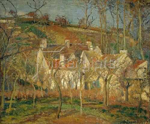 Camille Pissarro: Rote Dächer, Dorfecke im Winter. 1877