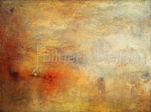 Joseph Mallord William Turner: Sonnenuntergang über einem See. 1840