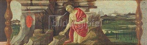 Sandro Botticelli: Altar von San Marco: der büßende Hl. Hieronymus.