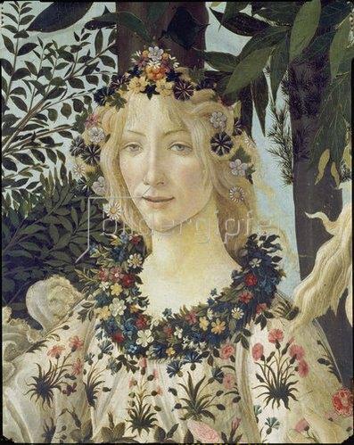 "Sandro Botticelli: Detail aus dem Gemälde ""Der Frühling"": Kopf der Flora."