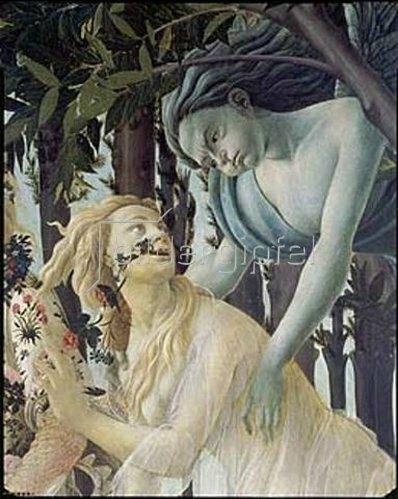 Sandro Botticelli: Detail aus dem Gemälde Der Frühling: Cephir und die Nymphe Chloris.
