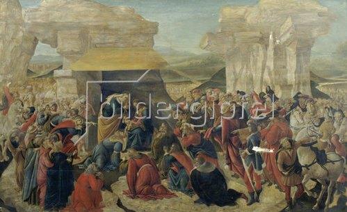 Sandro Botticelli: Die Anbetung der Hirten (unvollständig).