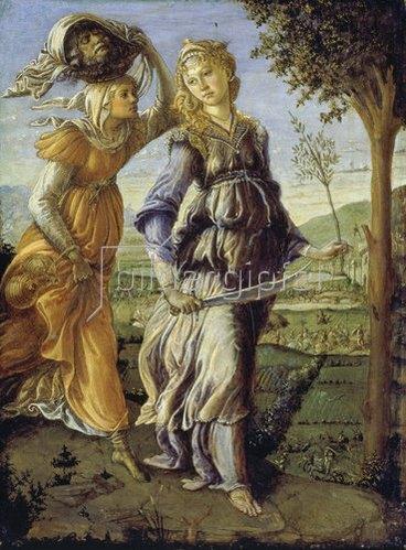 Sandro Botticelli: Die Rückkehr der Judith mit dem Haupt des Holofernes.