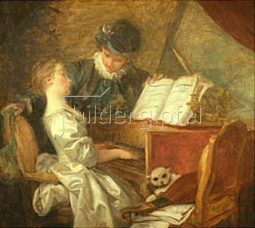 Jean Honoré Fragonard: Die Klavierstunde.