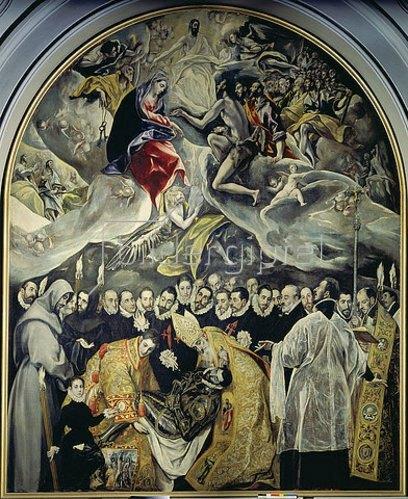 Greco El (Dominikos Theotokopoulos): Das Begräbnis des Conde de Organz. Um 1586