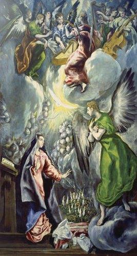 Greco El (Dom.Theotokopoulos): Verkündigung Mariae. 1590/1600.