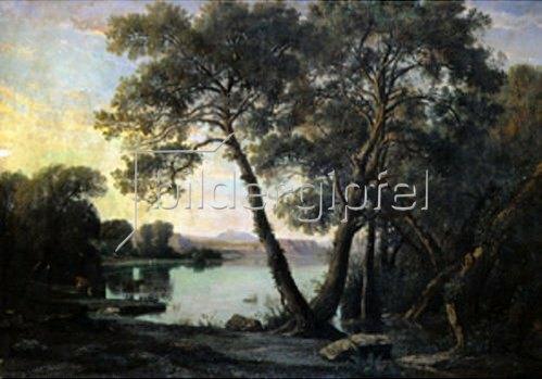 Louis Cabat: Italienischer See. 1854.