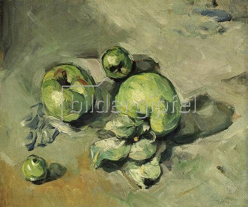 Paul Cézanne: Grüne Äpfel. Gegen 1873