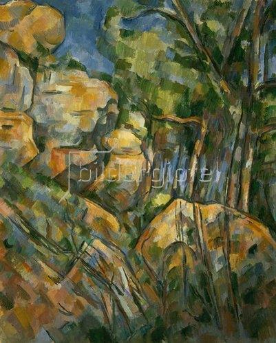 Paul Cézanne: Felsenlandschaft in der Nähe der Grotte im Park des Château-Noir. Gegen 1904