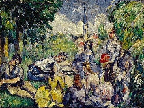 Paul Cézanne: Frühstück im Grünen. 1873/1875.