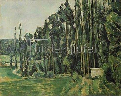 Paul Cézanne: Die Pappeln. Gegen 1879/1882