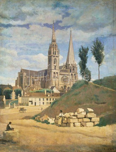 Jean-Baptiste Camille Corot: Die Kathedrale von Chartres.