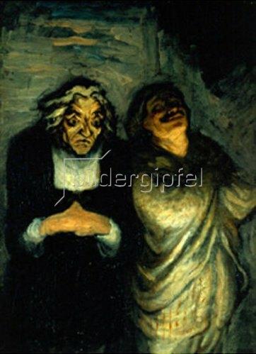 Honoré Daumier: Szene aus einer Komödie (Moliere?), auch: Un Scapin. 1863-1865