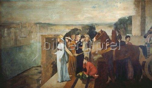 Edgar Degas: Die Erbauung Babylons durch Semiramis. 1861