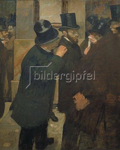 Edgar Degas: Ernest May (1845-1925) an der Pariser Börse. 1878/1879
