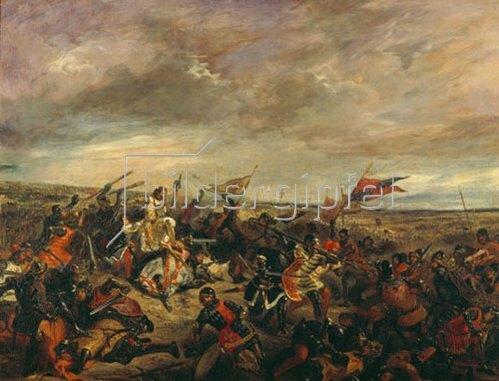Eugene Delacroix: Die Schlacht von Poitiers. 1830.