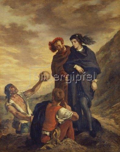 Eugene Delacroix: Hamlet und Horatio auf dem Friedhof. 1839.
