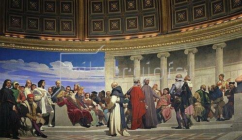Paul Delaroche: Wandmalerei in der Akademie der schönen Künste, Paris. 1841. (Rechter Teil)