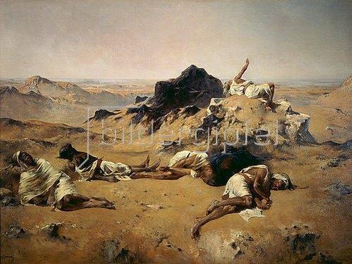 Eugène Fromentin: Verdurstende in der Wüste. Gegen 1869