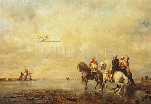 Eugène Fromentin: Falkenjagd in der Sahara. 1863