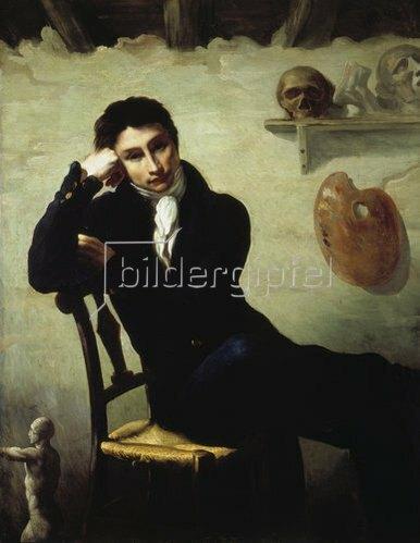 Théodore Géricault: Bildnis eines Künstlers in seinem Atelier.