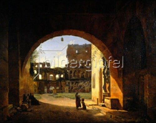 François Marius Granet: Im Colosseum in Rom.