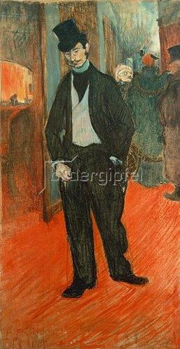 Henri de Toulouse-Lautrec: Gabriel Tapies de Celeyran im Gang eines Theaters. 1894