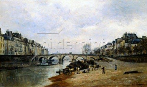 Stanislas Lépine: Quay des Célestins und Pont-Marie in Paris. 1868.