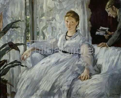 Edouard Manet: Die Lektüre. Mme. Manet und ihr Sohn Léon Koella-Leenhoff. 1869