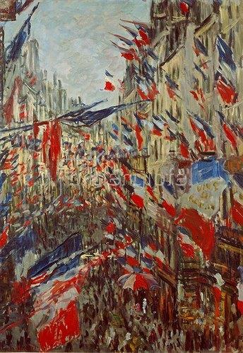 Claude Monet: Strasse im Flaggenschmuck. 1878.
