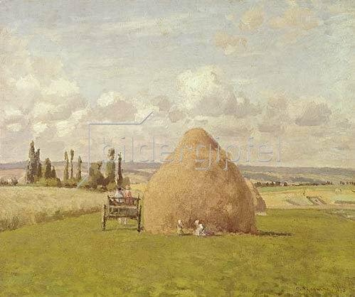 Camille Pissarro: Strohhaufen in Pontoise. 1873.