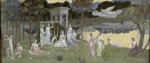 Pierre Puvis de Chavannes: Die Künste und die Musen im heiligen Wald. 1883/1884.