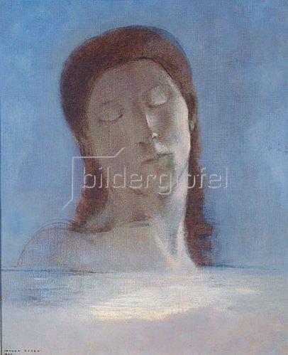 Odilon Redon: Geschlossene Augen. 1890