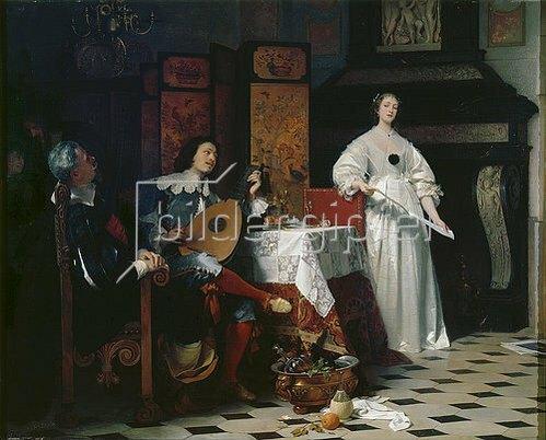 Arthur Georg Freiherr von Ramberg: Nach Tisch. Um 1870