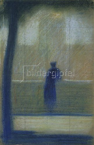Georges Seurat: Der Invalide. Um 1881