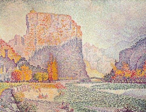 Paul Signac: Die Felsen von Castellane. 1902