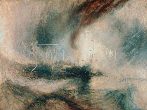 Joseph Mallord William Turner: Schneesturm über dem Meer. 1842