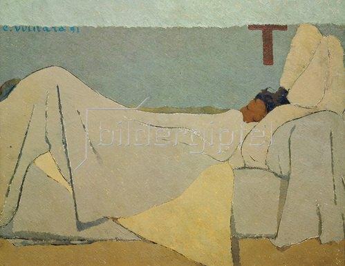 Edouard Vuillard: Im Bett. 1891