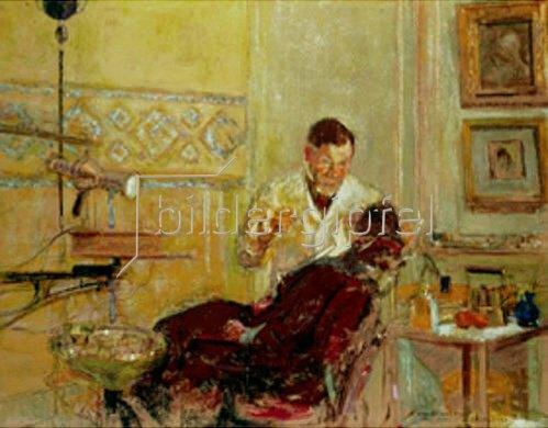 Edouard Vuillard: Doktor G. Viau in seiner Zahnarzt-Praxis. 1914