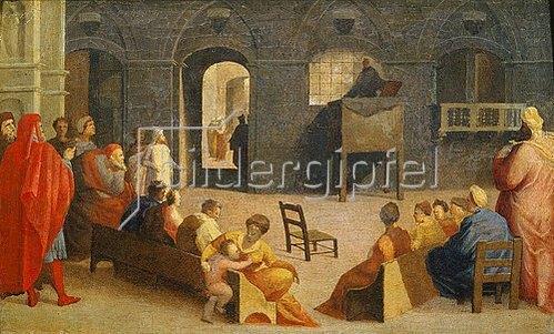 Domenico Beccafumi: Die Predigt des hl. Bernardino von Siena. 1537